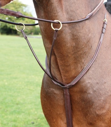Adlefia Rolled Leather Running Martingale