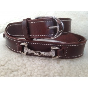 Pampas Leather Bling Bit Belts